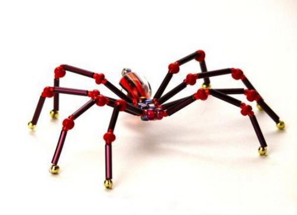 Красный паук. Схема плетения