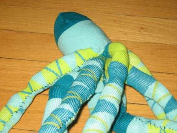 Осьминог из носка-5