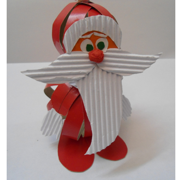 Делаем Деда Мороза из бумаги
