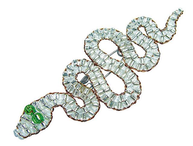 Змейка брошь