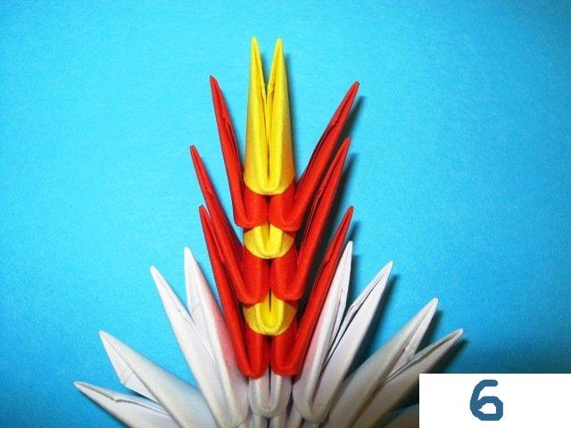 Снежинка из модулей оригами-7