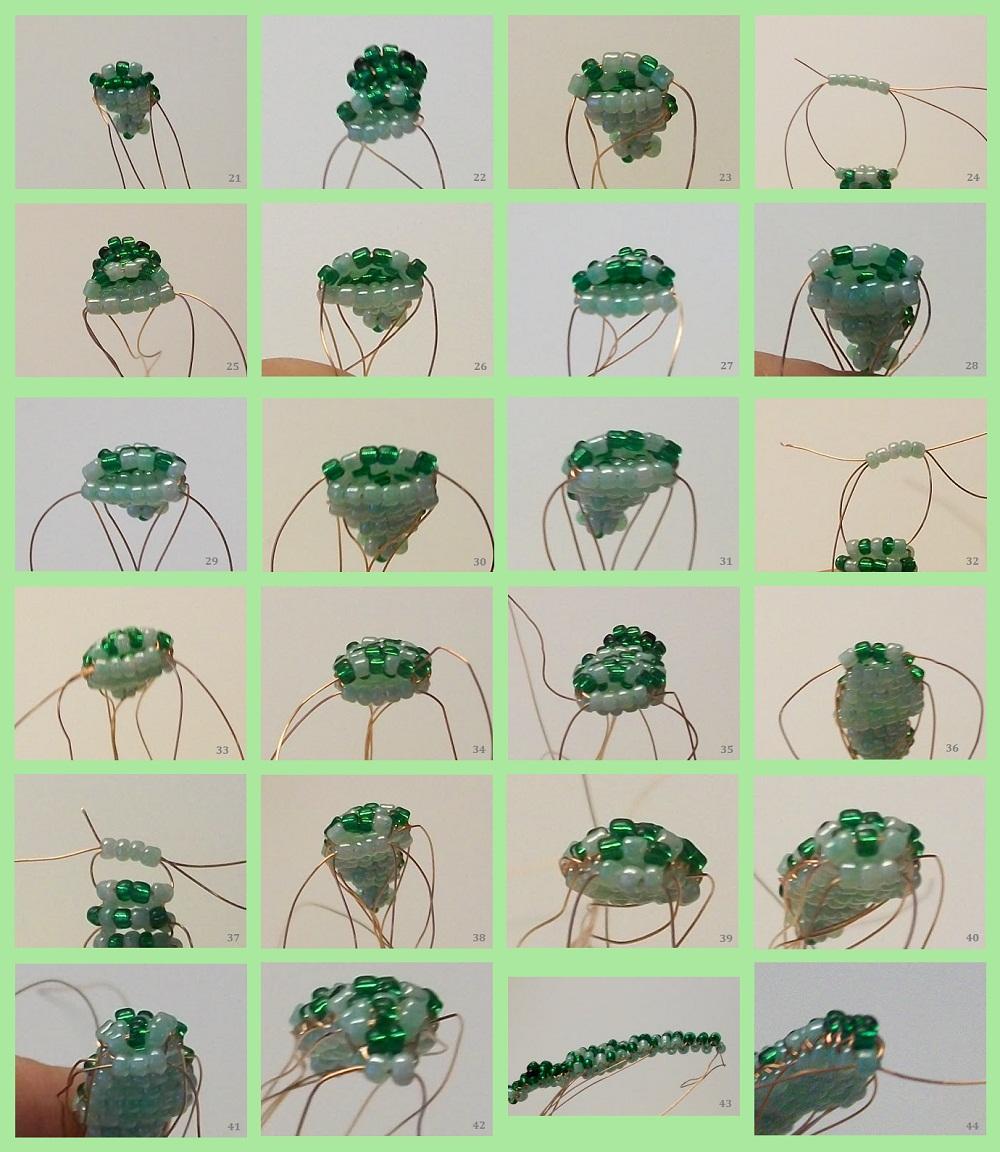 Крокодильчики из бисера схема