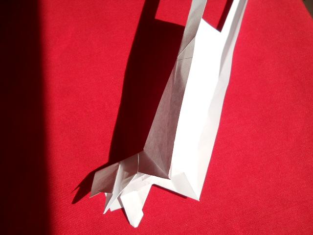 Олень оригами-10