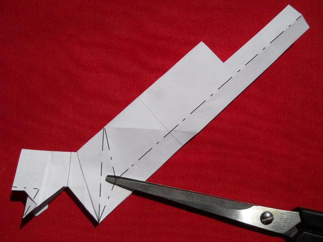 Олень оригами-11