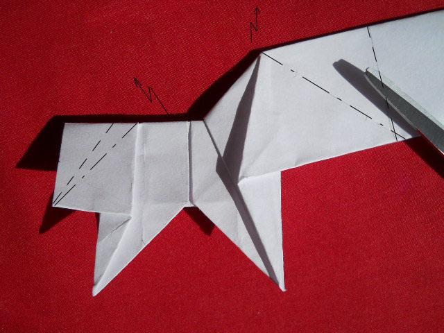 Олень оригами-12