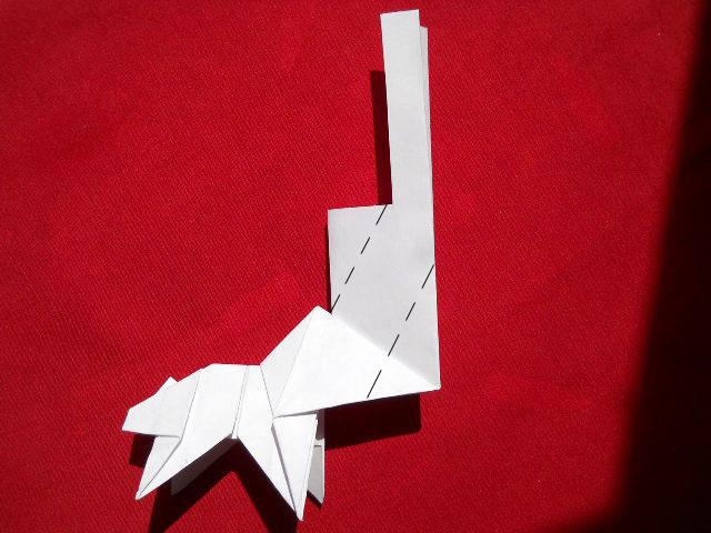 Олень оригами-13