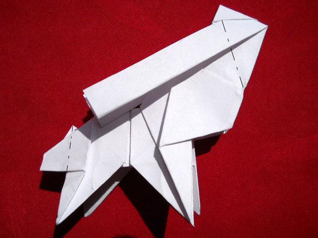 Олень оригами-15