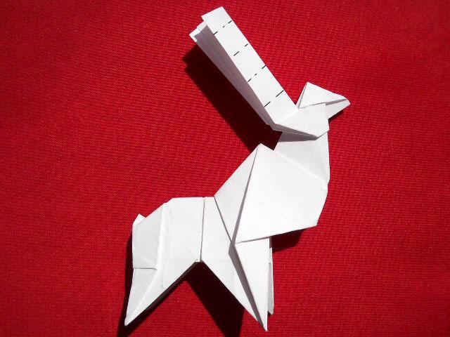 Олень оригами-16