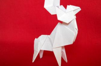 Олень оригами-18