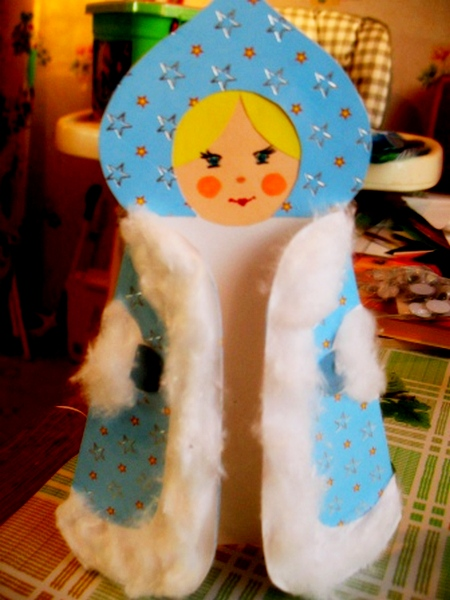 Открытка – снегурочка-4