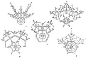 Схемы вязания снежинок-2