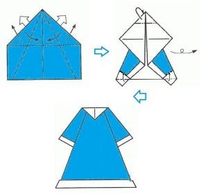 Снегурочка оригами-2