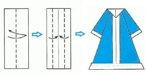 Снегурочка оригами-3