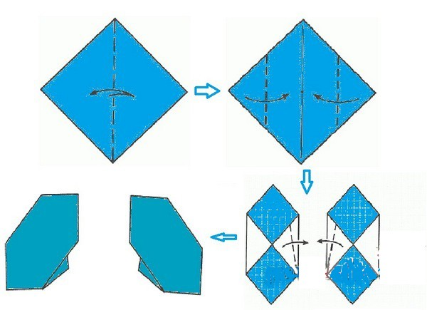руками оригами шапочки.