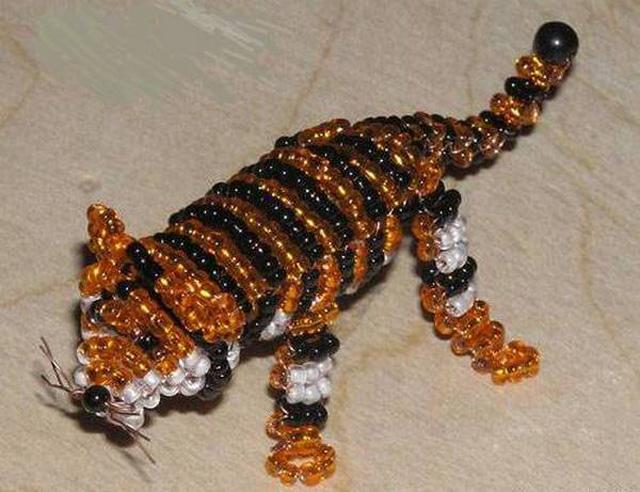 tigr-2 Как сплести из бисера животных