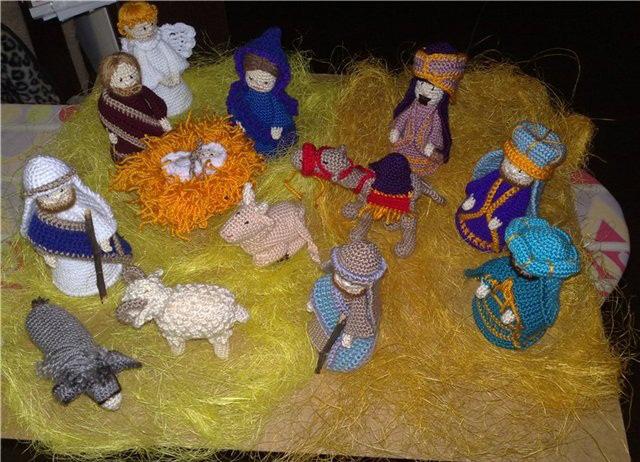 Рождественские вертепы своими руками-16