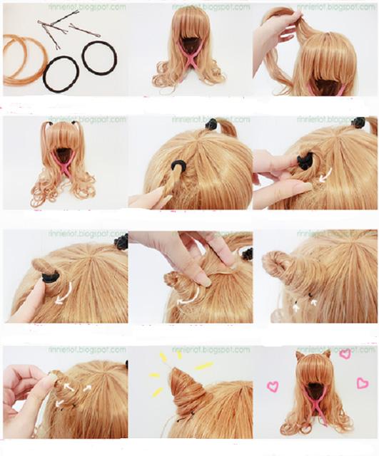 Ушки из волос-2