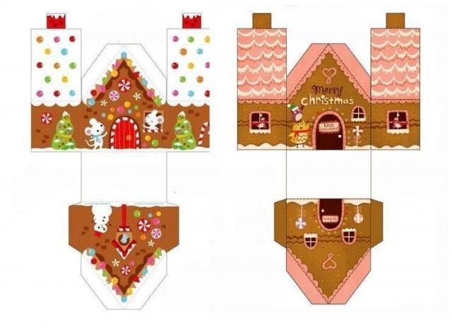Маленькие новогодние домики своими руками