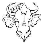 Маска дракона шаблон