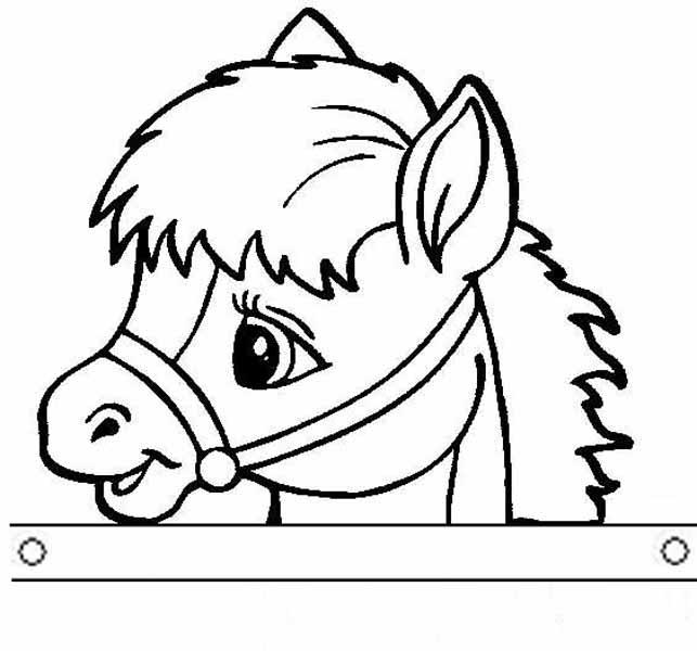 Шаблон маски лошади