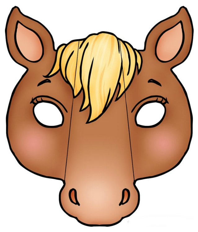 Маска голова коня своими руками