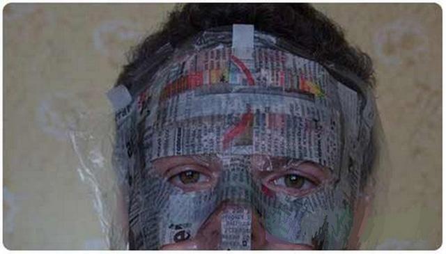pape Мастер класс маска папьемаше