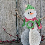 Бумажный снеговик