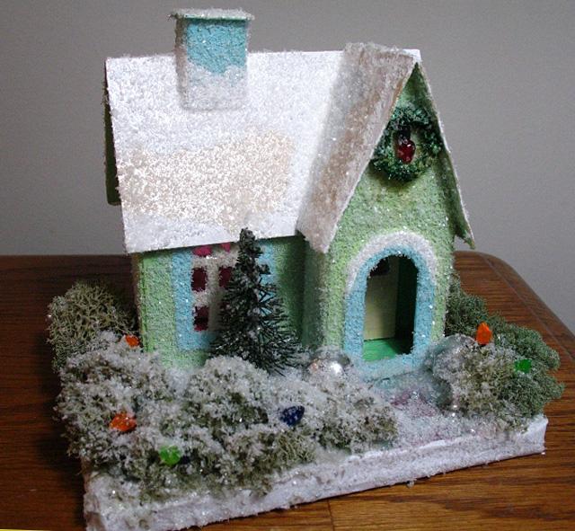 Делаем зимние домики-15