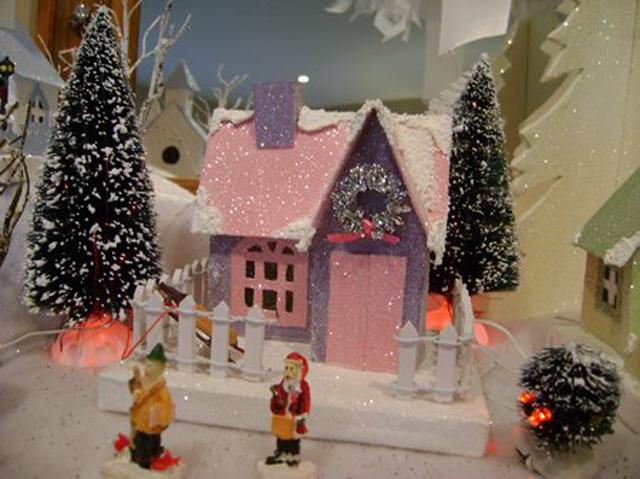 Новогодний домик с подсветкой своими руками фото 994