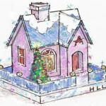 Делаем зимние домики-23