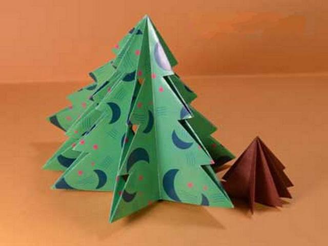 Елка оригами-10