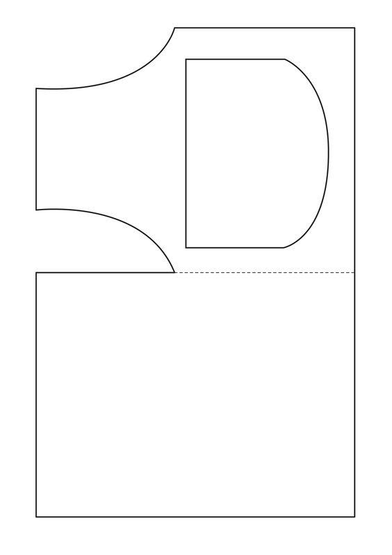 открытка-фартук шаблон