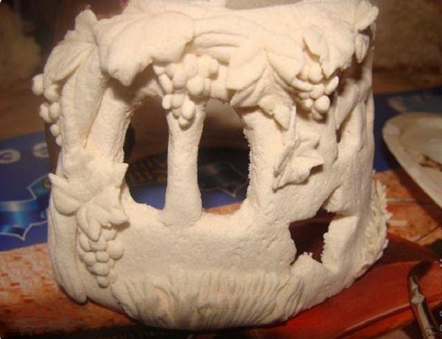 Лепим гномиков из глины и теста