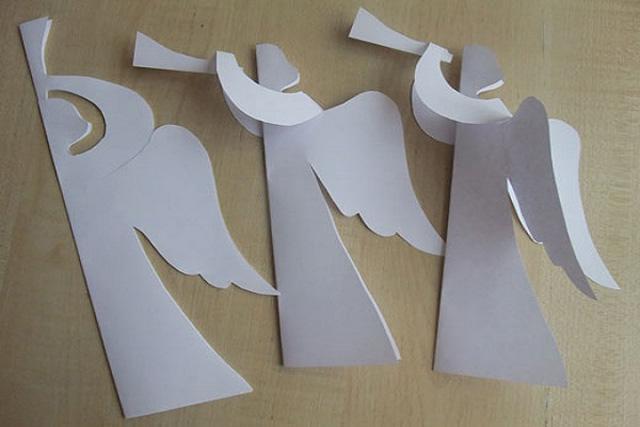 Ангелы из бумаги своими руками фото