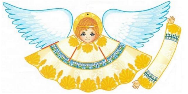 Ангел своими руками из бумаги шаблон