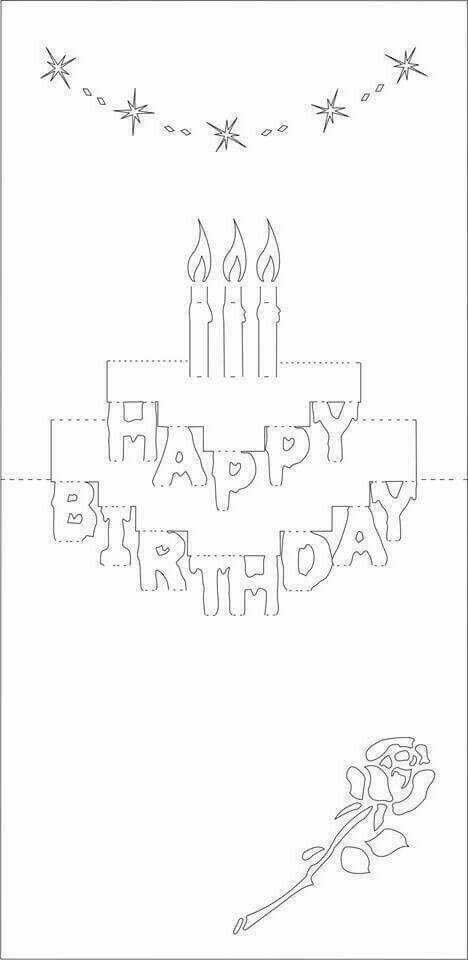 Как сделать открытку на день рождения шаблон