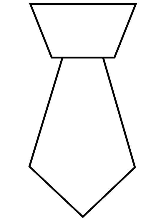 Для, галстук открытка шаблон