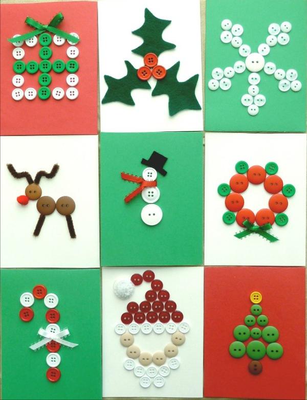 Делаем открытки на новый год с детьми своими руками