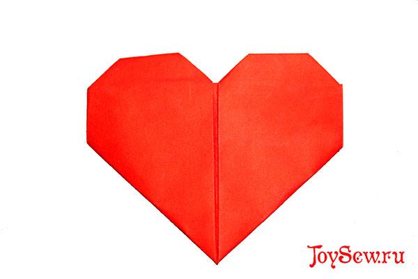 сердечко оригами - простое