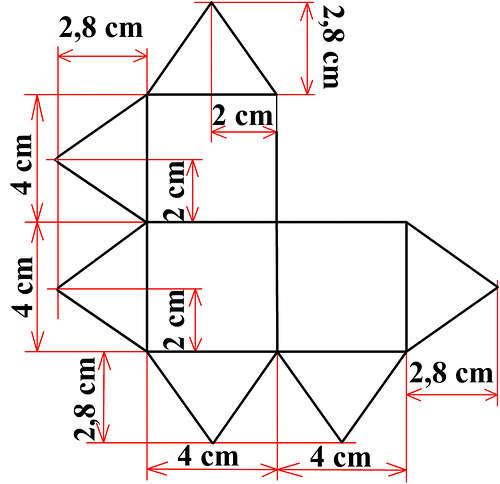 Как склеить куб из бумаги схема