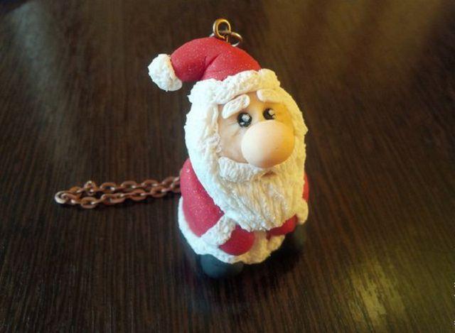Лепим Деда Мороза из полимерной глины