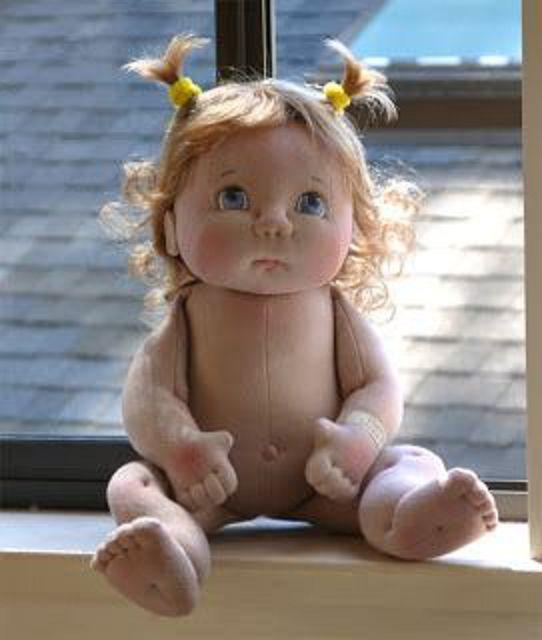 Лицо куклы из колготок своими руками