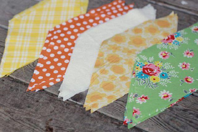 Флажки из ткани для детского сада своими руками 36