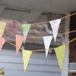 Флажки из ткани на праздник