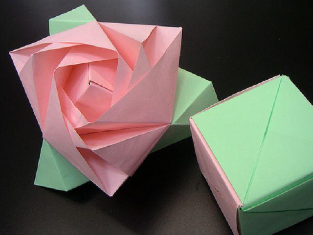 Куб-транформер роза