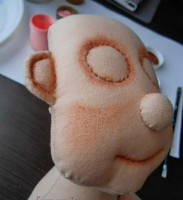 Мастер класс росписи лица куклы-карамельки-2
