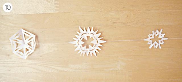 гирлянды из бумажного снега-5