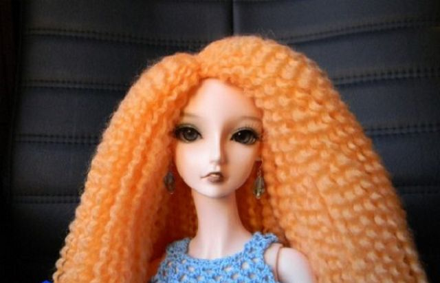 Волосы для кукол из ниток