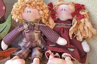Волосы для кукол из ткани