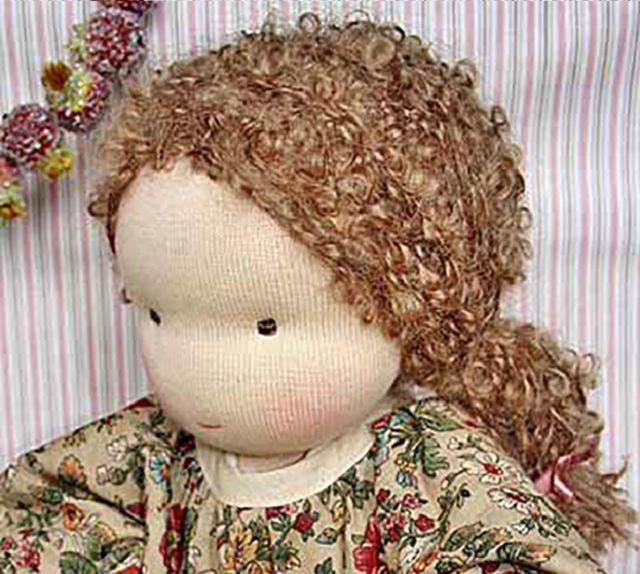 Как сделать волосы кудрявые кукле